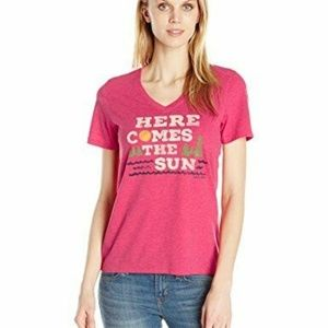 Life is Good Womens T-Shirt Here Comes the Sun